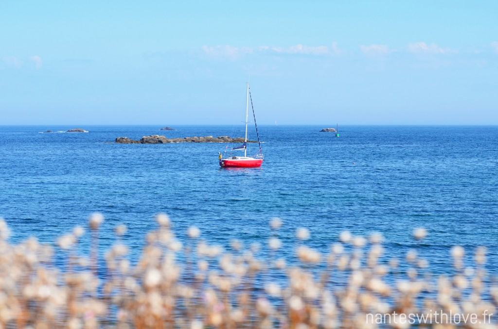 Ile de Sein - Petit bateau sur l'eau