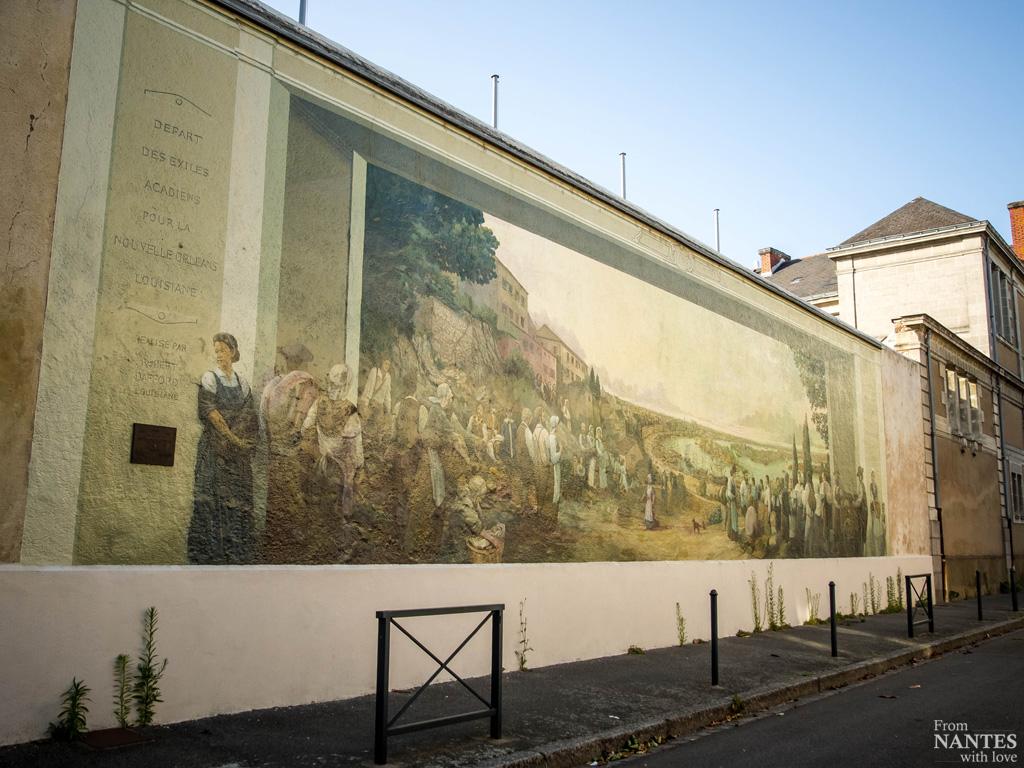 Fresque des acadiens - Quartier Chantenay / Saint-Anne Nantes