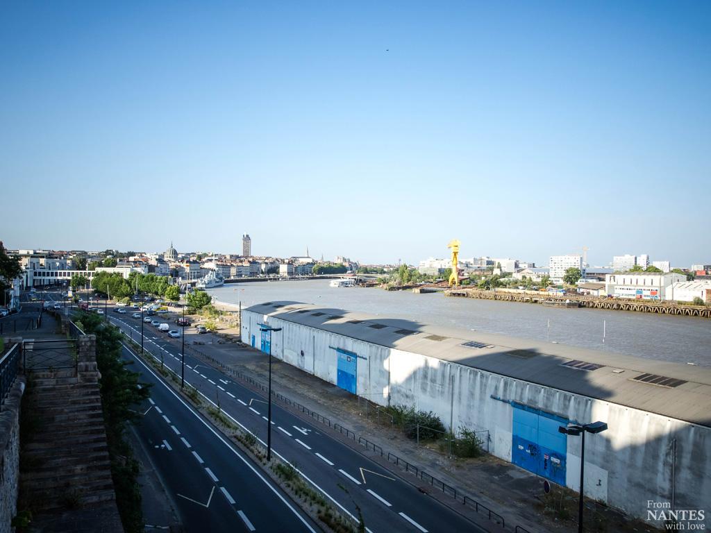 Le centre de Nantes vu depuis le auartier Chantenay / Saint-Anne