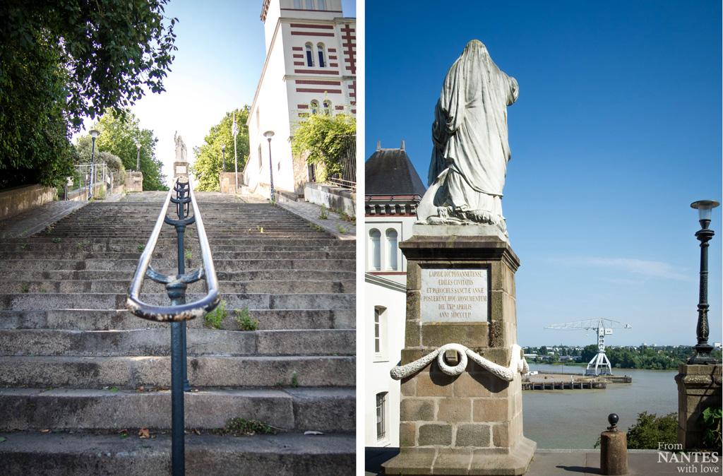 Statue de Sainte-Anne face à la Loire - Quartier Chantenay / Saint-Anne Nantes