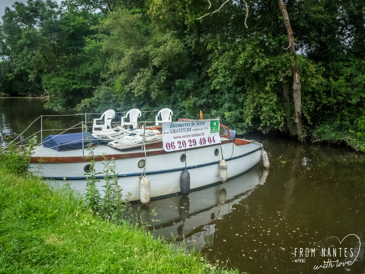 En bateau sur la Sèvre avec la vedette Gratitude