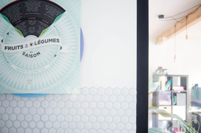 Ma crédence de cuisine avec le carrelage adhésif Hexago de Smart Tiles