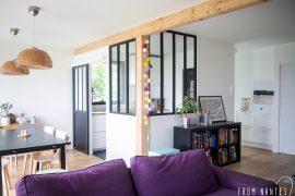 DIY – Une verrière style atelier (et pas chère) pour séparer ma cuisine de mon salon