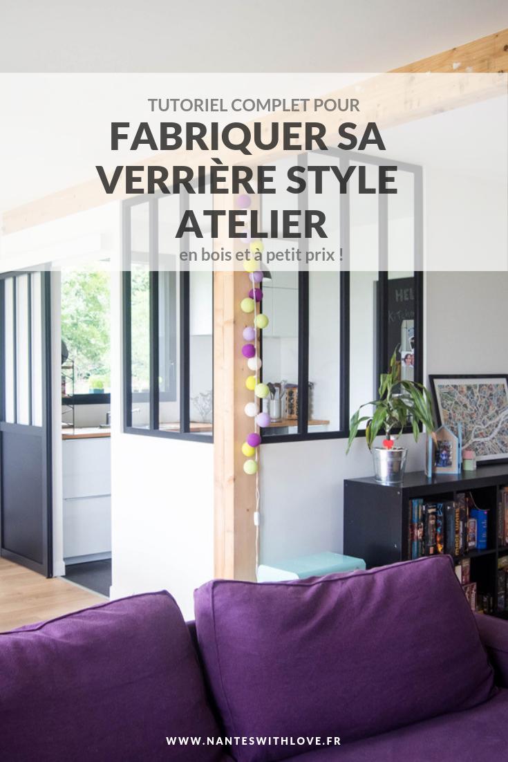 Diy Une Verrière Style Atelier Pas Chère Pour Séparer