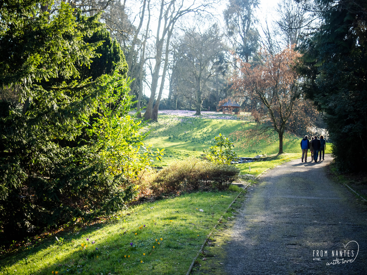 Promenade Parc Gaudinière Nantes Printemps