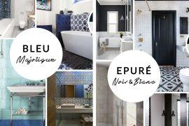 Décoration – Deux inspirations pour ma salle de bain