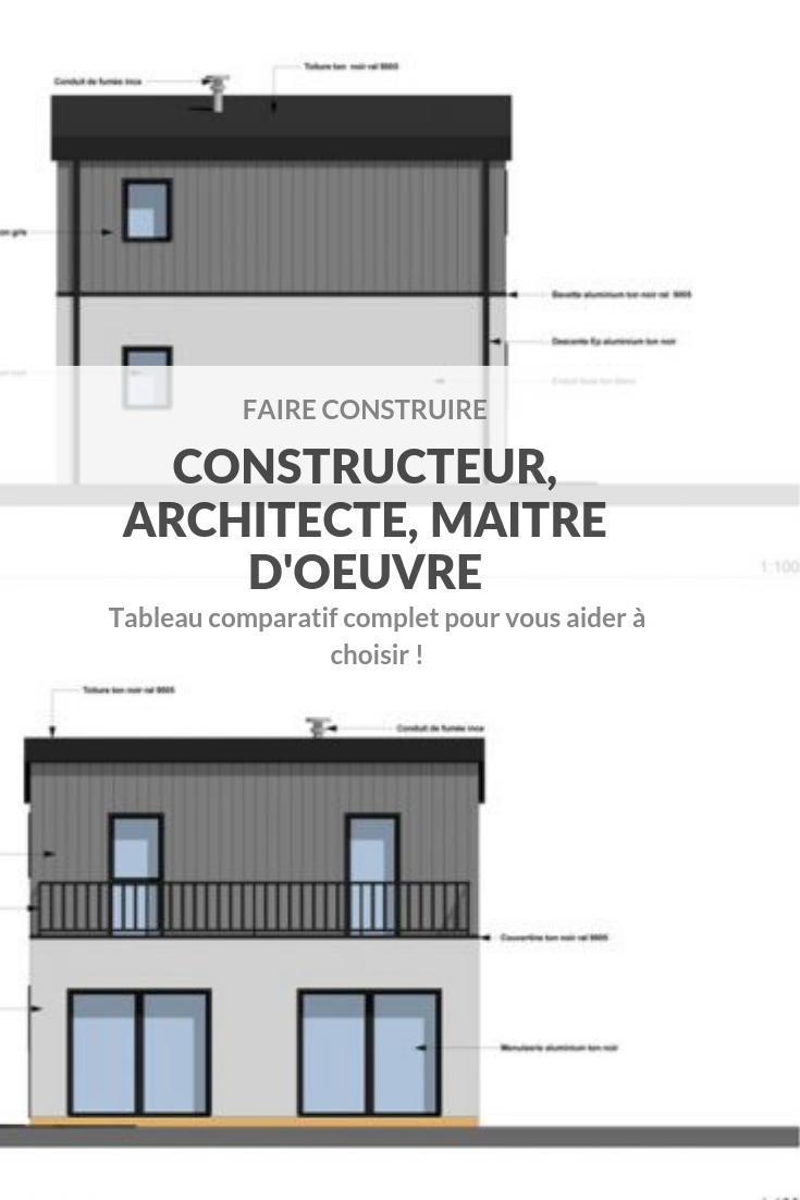 Faire construire - Choisir entre constructeur, maitre d'oeuvre et architecte