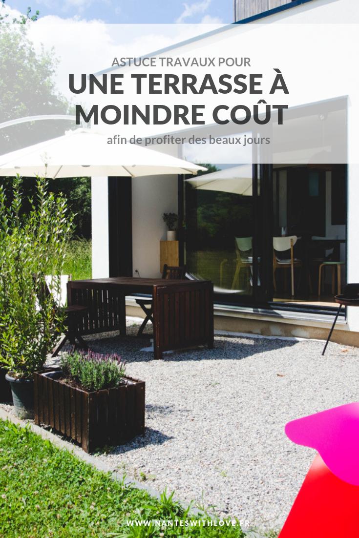 Créer une terrasse temporaire en gravier à moindre coût pour profiter des beaux jours même quand on a un tout petit budget travaux