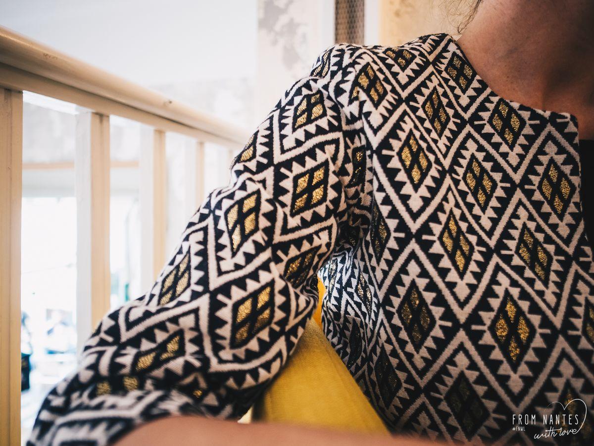 L'Aventurière, veste et accessoire de maroquinerie ethnique et éthique