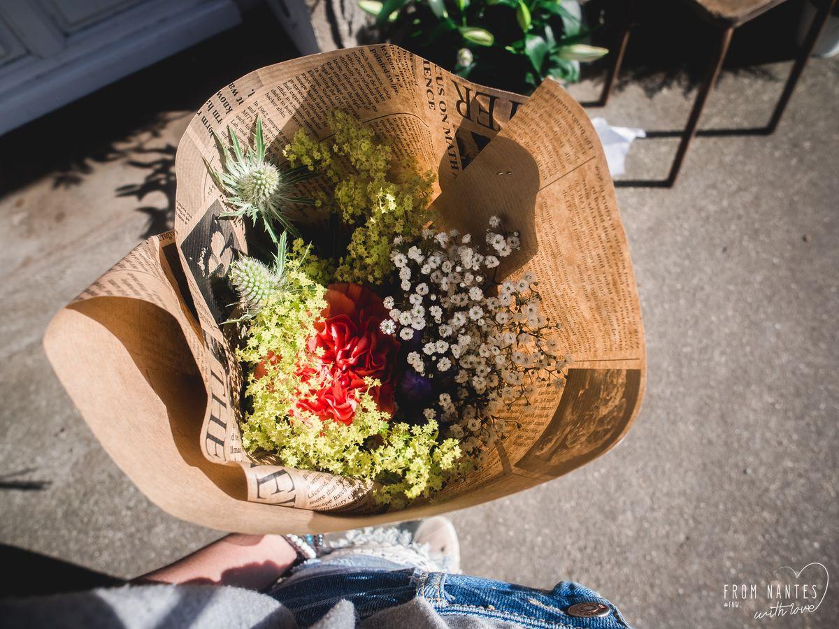 Mon bouquet en récompense du jeu Un jous un Village Oudon