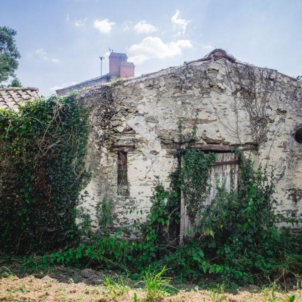 Vieille ferme abandonnée sur le chemin entre Pornic et les Moutiers