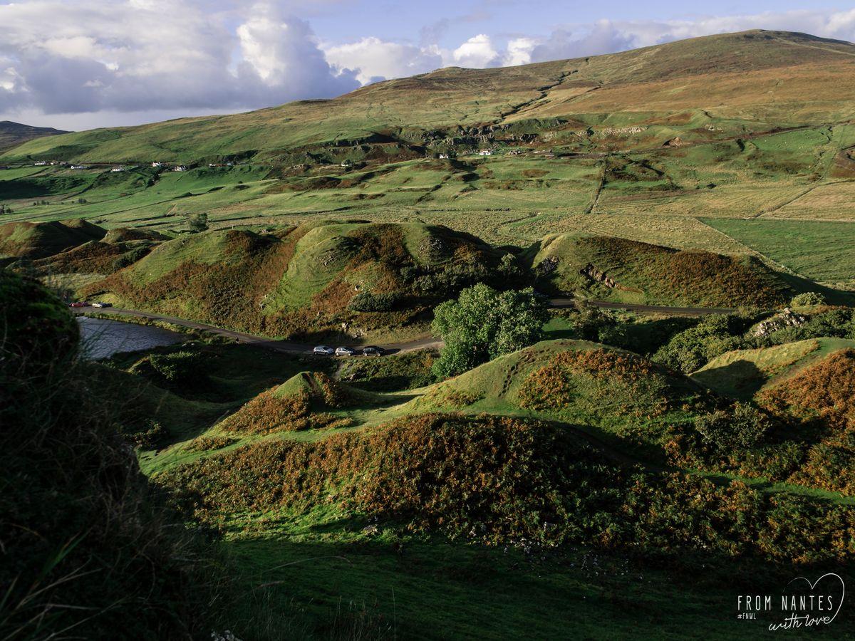 Les Fairy Glen sur L'Ile de Skye