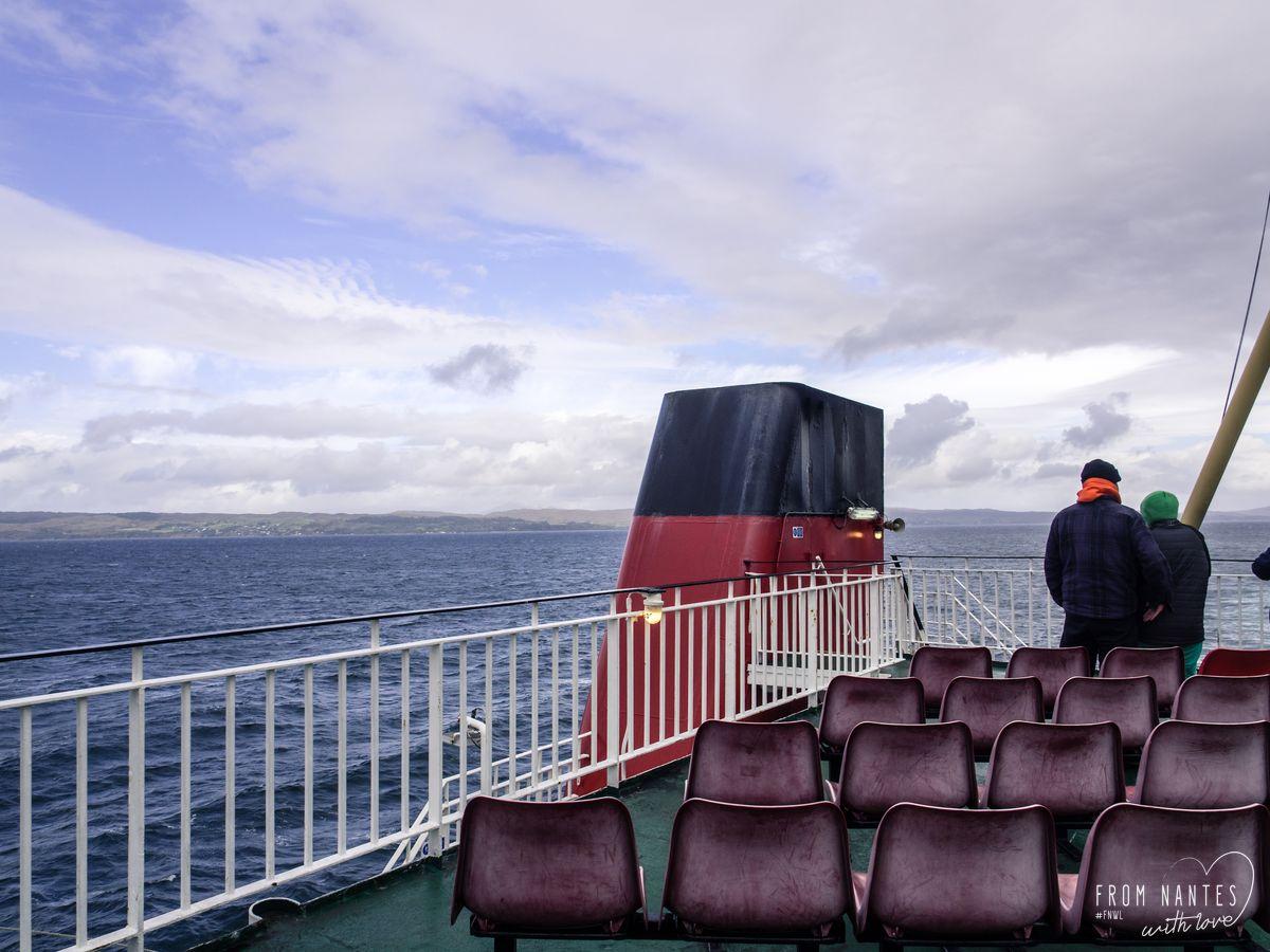 Le ferry qui quitte l'Ile de Skye