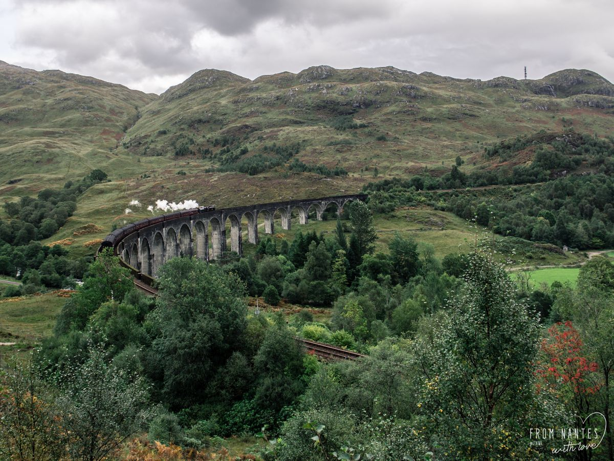 Le jacobite Steam Train sur le Viaduc de Glenfinnan