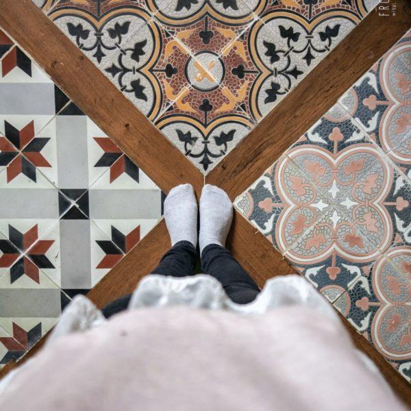 Le sol de notre chambre d'hotel au Chateau du Val