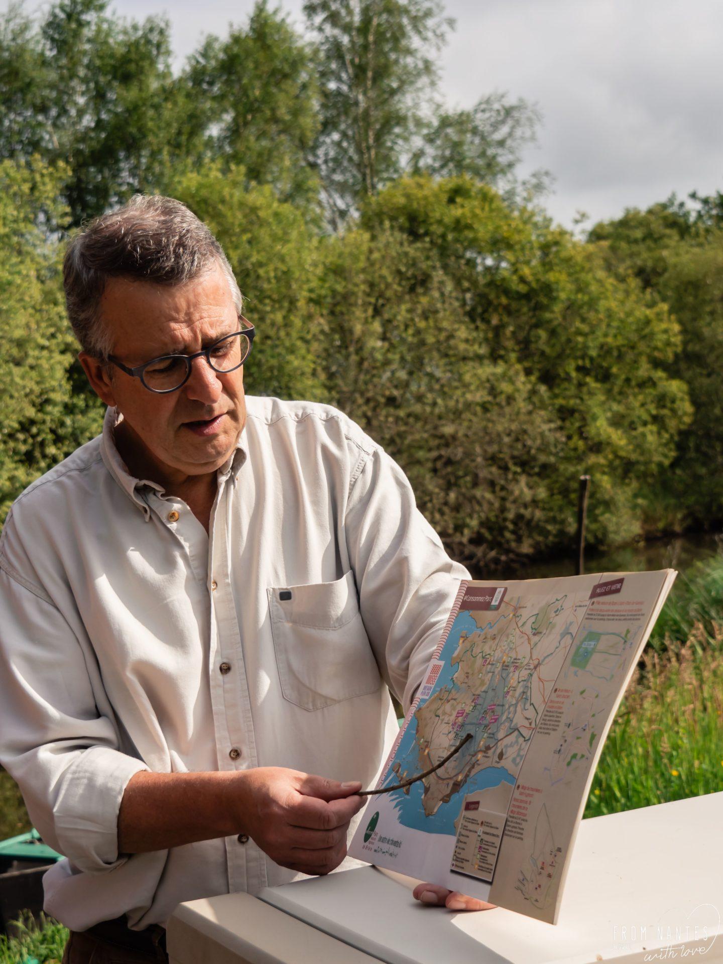 Promenade en Brière - EN chaland avec Alain Levêque