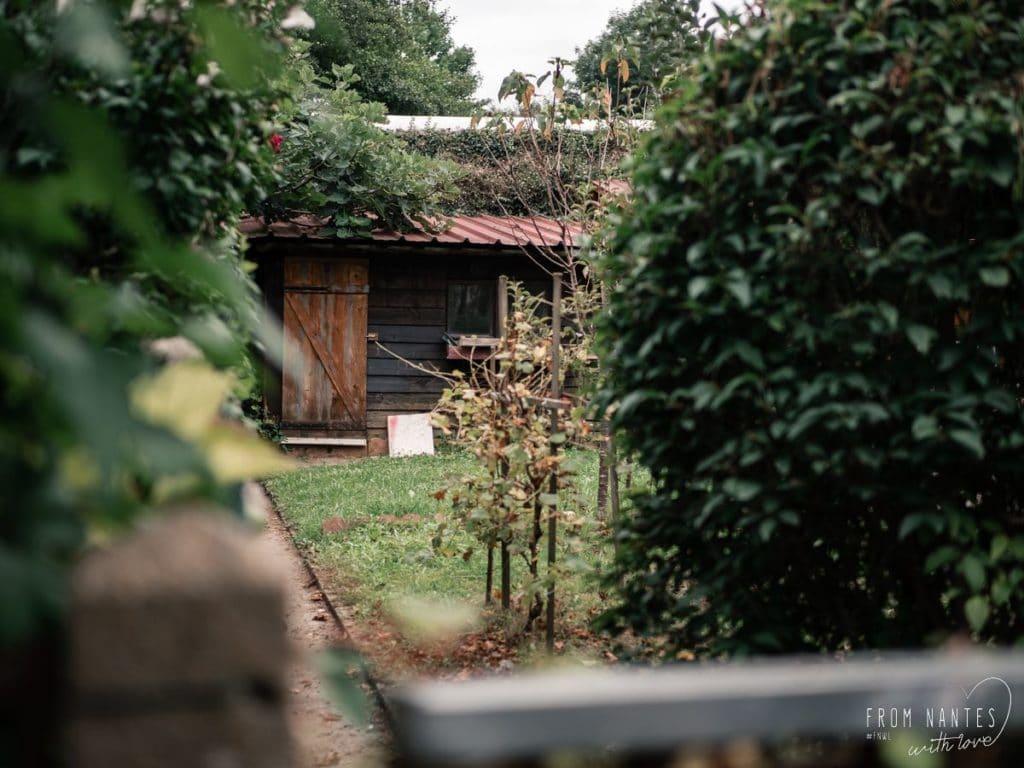Jolie jardin, vue sur Nive