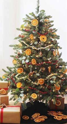 Décoration de Noël : des tranches d'agrumes